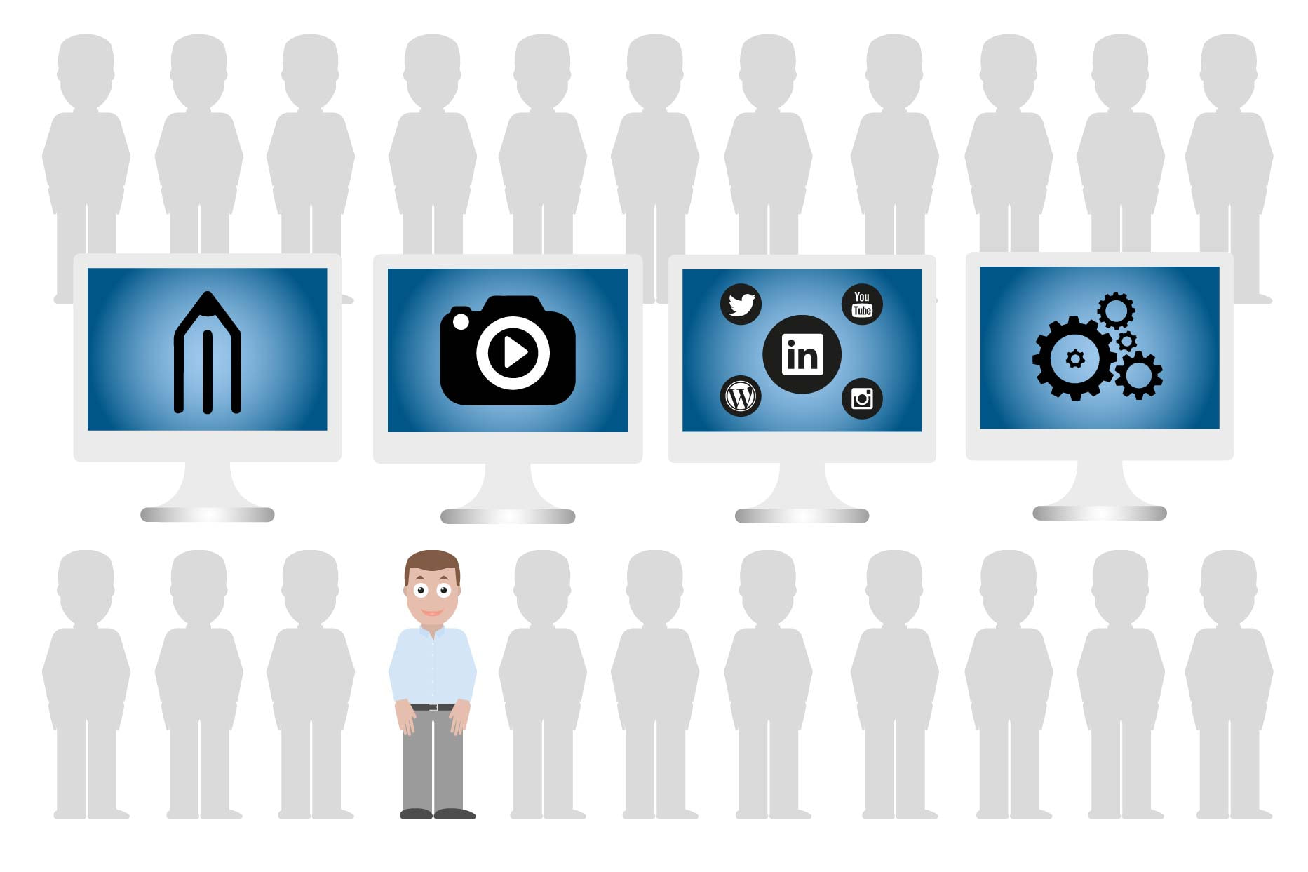 Grafiske produkter | Bliv set i mængden. Få flere kunder og vækst via synlighed.