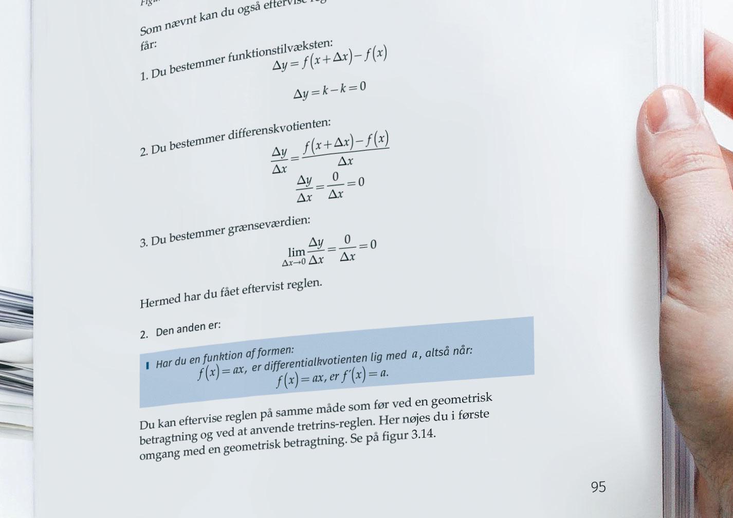 Mathtype | Word ligninger i en bog: Teknisk Matematik 2.